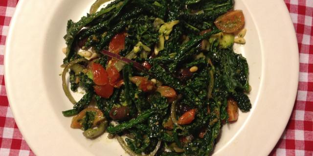 Mediterranean Dinosaur Kale Salad