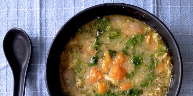 Broccoli coconut sweet potato soup