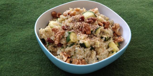 Quinoa Zucchini Raisin Salad