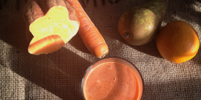Sweet Potato Carrot Orange Juice