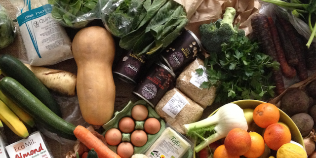 our weekly organic food shopping