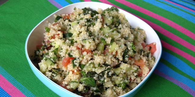 Quinoa Mint Lemon Tabouleh