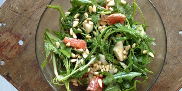 Grapefruit Fennel Arugula Salad