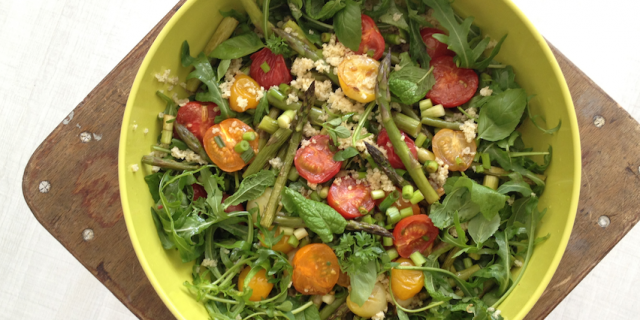 Wild Tomato Asparagus Salad