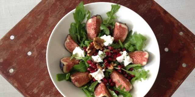 Pomegranate Figs Goat's Cheese Salad