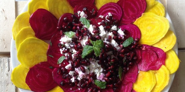 Pickled Beet Carpaccio with Feta