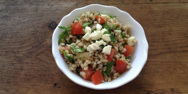 Farro and Pearl Barley Salad