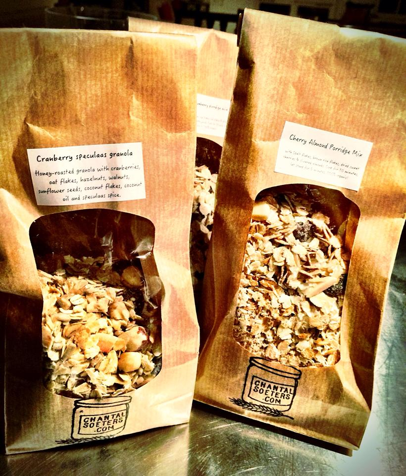 Homemade granola and porridge mixes