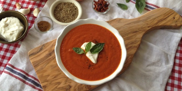 Smoky Harissa Pepper Soup