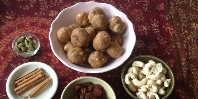 Cashew Raisin Chickpea balls