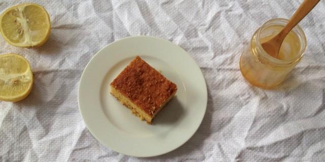 Bergamot Almond Polenta Cake