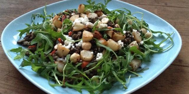 Jerusalem Artichoke Lentil Salad