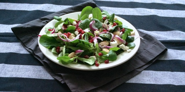 Baby Spinach Pomegranate Salad
