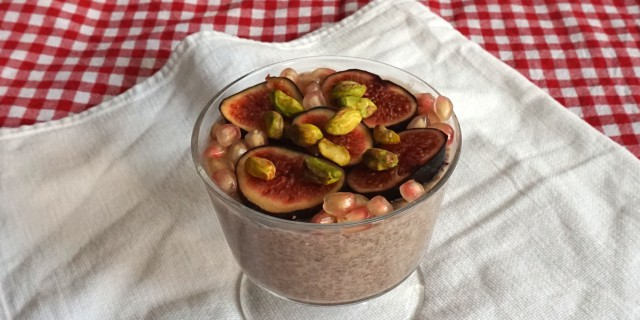 Fig Vanilla Almond Pudding