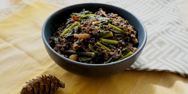 Beluga Lentil Kale Beet Salad