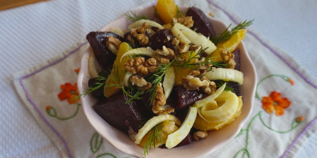 Roasted Beets with Orange and Dill
