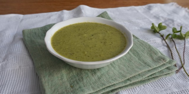 Pea Coconut Mint Soup Chantal Soeters