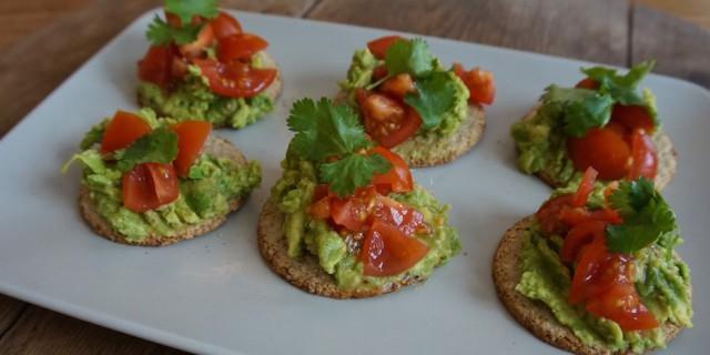 Avocado Oat Crackers