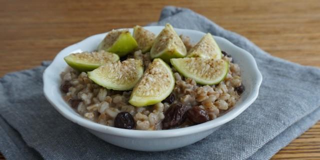 Vanilla Green Fig Spelt Porridge