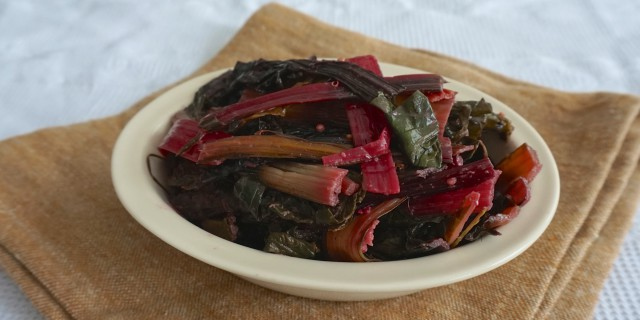 Spicy Garlic Chili Rainbow Chard by Chantal Soeters